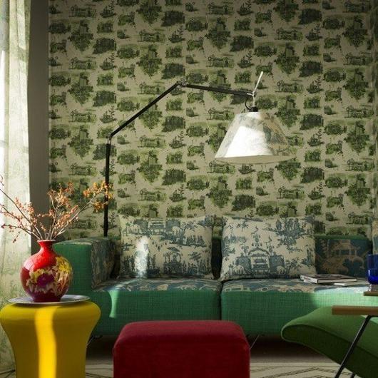 London toile wallpaper - a walnut shop favorite