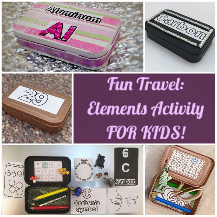 Travel Periodic Table Elements Activity for Kids Using Altoid Tins