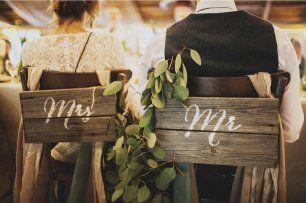 Свадебные стулья жениха и невесты