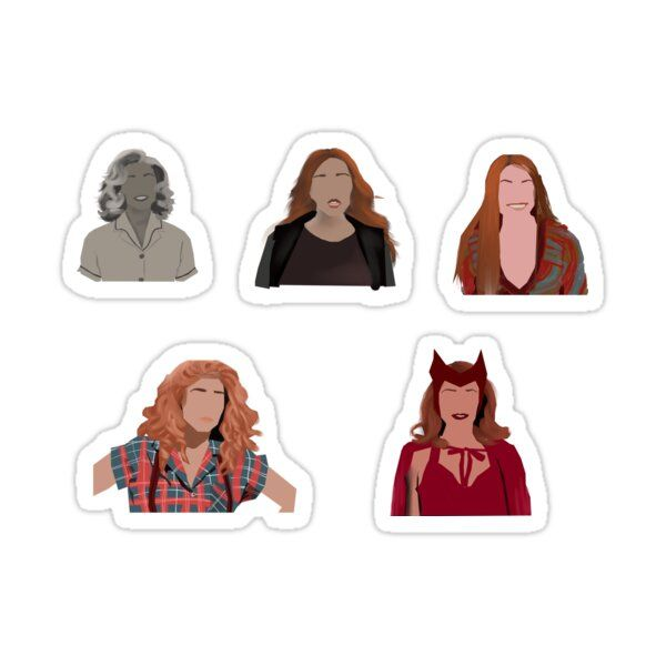 WandaVision Family Portrait Vinyl Sticker!