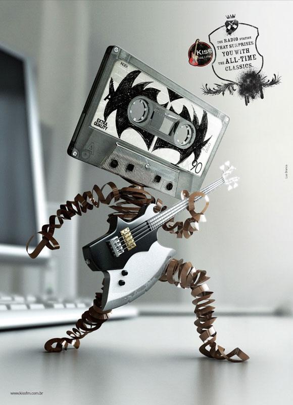#adsPhotos Manipulation, Cassette Tape, Rocks Stars, Art, The Music Man, Rocks Style, Rocks Music, Rolls, Kisses