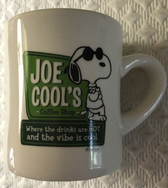 Peanuts Snoopy Joe Cool's Coffee Shop Mug Tea Cup Hallmark Ceramic 12 Oz. | eBay