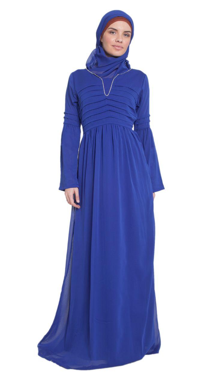 Seema Formal Long Islamic Maxi Dress Abaya with Free Hijab | abayas, kaftans, maxi dresses and long sleeve dresses for women | Islamic Dresses at Artizara.com
