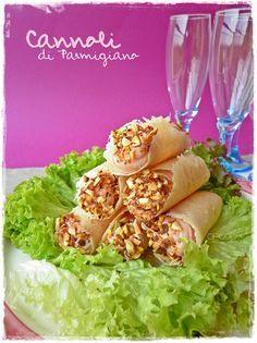 antipasti    cannoli con crema di prosciutto,mandorle e pistacchio