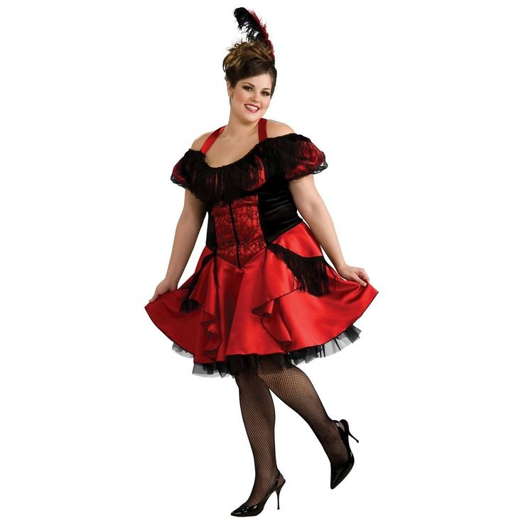 saloon girl costume adult western can can dancer plus size halloween fancy dress - Can Can Dancer Halloween Costume