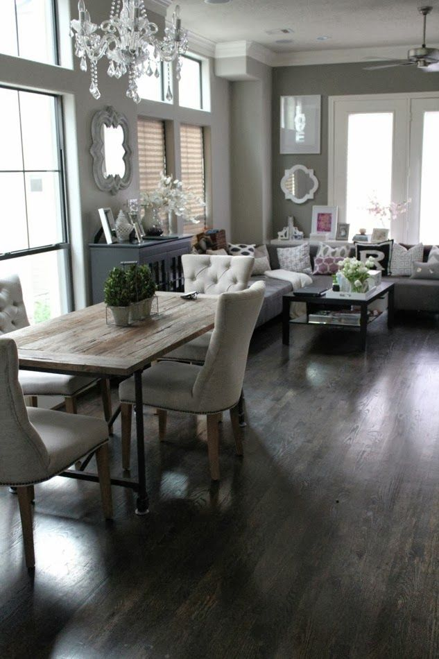 Table Chairs For Kitchen Via Veronikas Blushing Rustic Contemporary Dining Living Room Combination