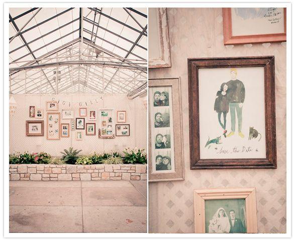 decorative wallpaper and frames