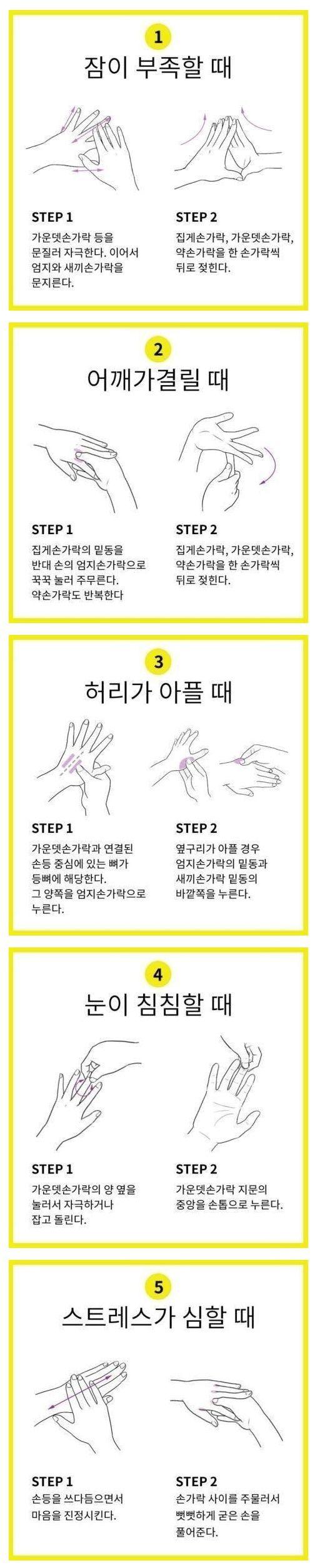 이슈인 - 간편한 손 지압법