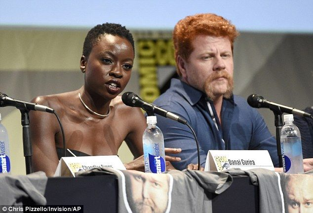Dynamic duo: Danai Guirra and Michael were seated next to each other during the panel...