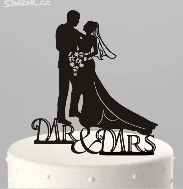 Originální ozdoba na svatební dort- Mr a - obrázek číslo 1