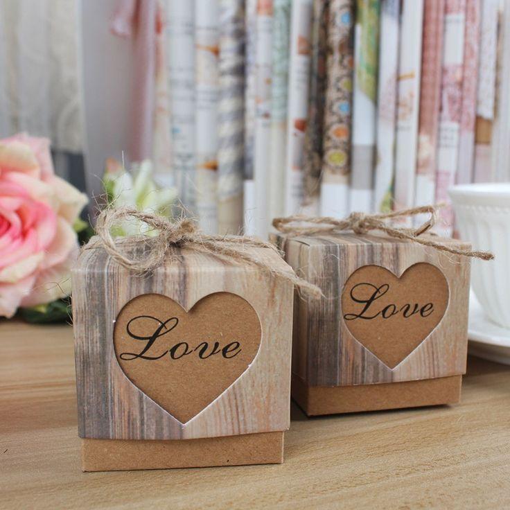 10pcs/lot Kraft Gift Box, Wedding Favors and Gifts Bag, Party Supplies