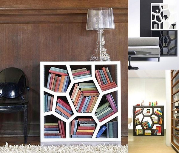 Bookcase and lamp