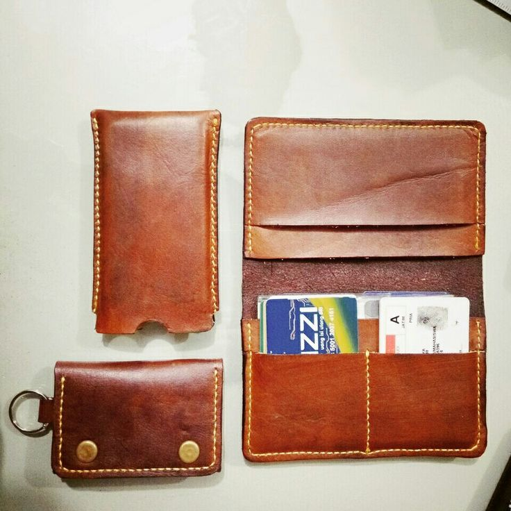 Leather wallet Leather craft