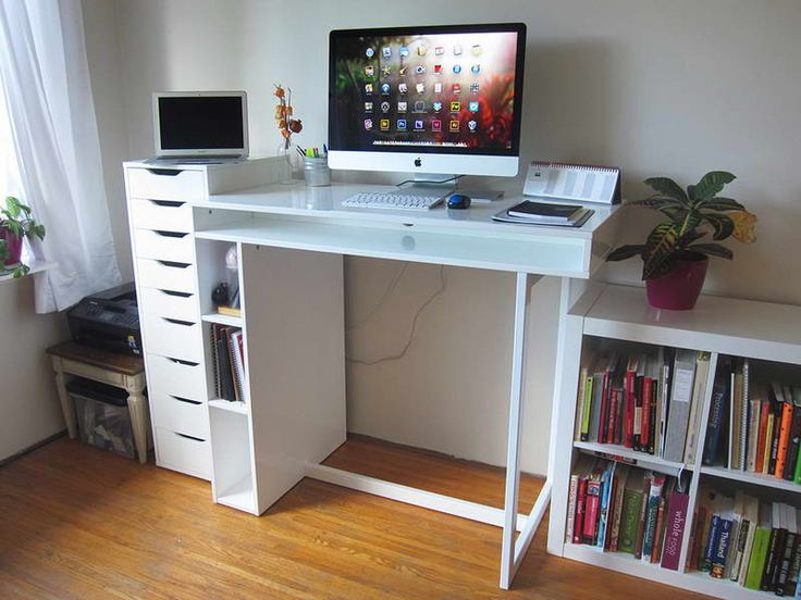 186 best images about Desks on Pinterest  Built in desk Small