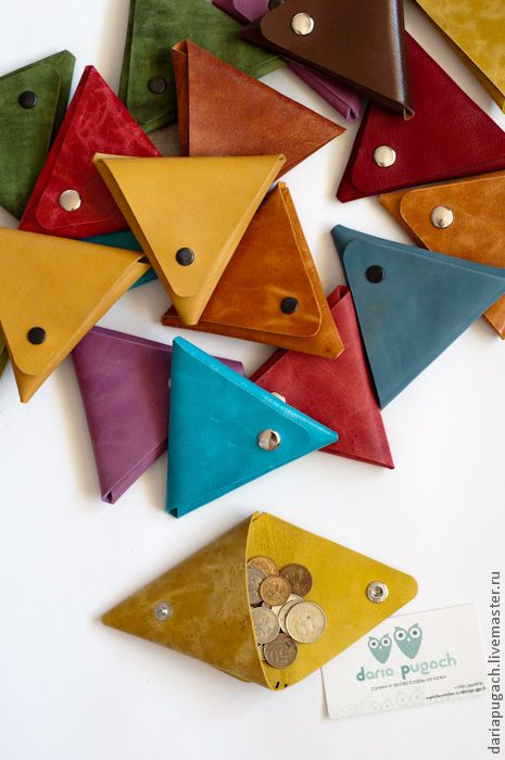 Купить Конвертик для мелочи - кошелек для мелочи, кошелёк для мелочи, кожаный кошелек, кошелек, яркий аксессуар