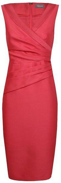 Alexon Red Wool Silk Dress
