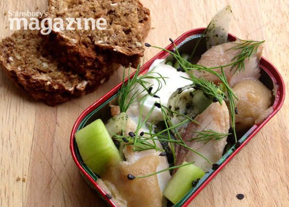 A smart starter by Robin Gill from Sainsbury's magazine