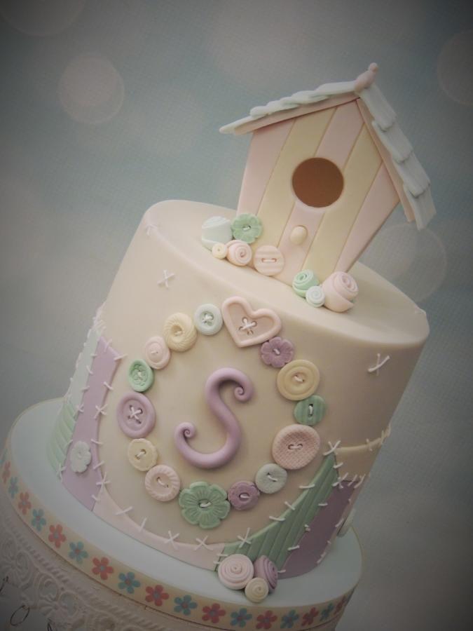 Patchwork Birdhouse - Cake