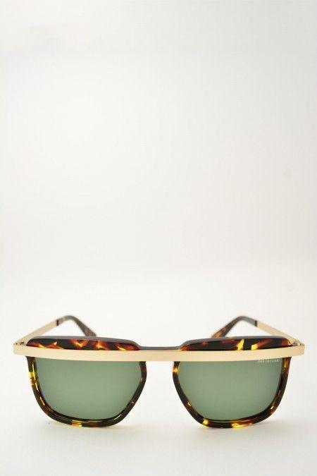 Bob Sdrunk FAITH havana scuro and gold sunglasses #Sunglasses #BobSdrunk #HavanaShiny #SquareShape #Faith #GreenGradient #BassanoDelGrappa #DesignGlasses #Design #Gold online store at www.bassanooptical.com