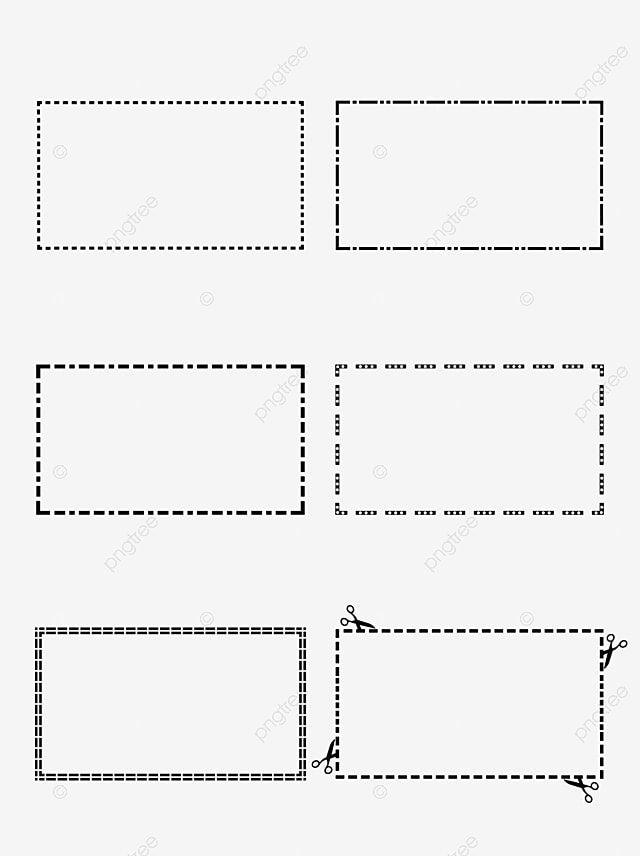 دائرة وخطوط منقطة مربعة دائرة فنية خط منقط خط فاصل Png والمتجهات للتحميل مجانا Elements Border Templates Presentation Design
