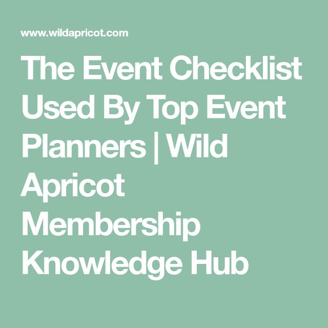 The  Best Event Checklist Ideas On   Event Planning