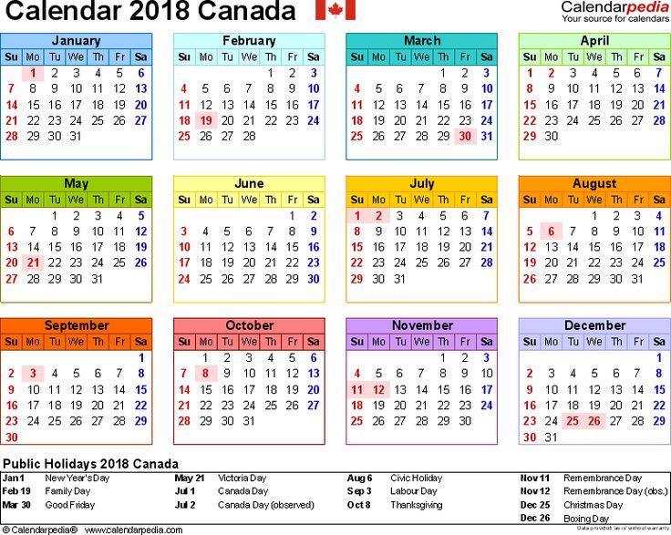 online calendar templates 2018