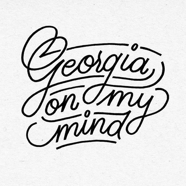 Georgia, you've been so good to me! in Typography