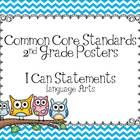 Here is a cute set of Owl Themed Common Core Standards Posters.  They are the same format as my other Common Core Posters IN easy to read I Can Sta...