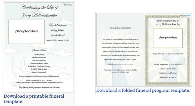 memorial service program template two free funeral service templates from to 23614 | 564bcd3f826c329fec31b36cfe6fe141 program template funeral ideas