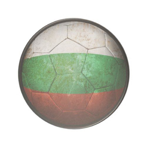 Worn Bulgarian Flag Football Soccer Ball Coaster