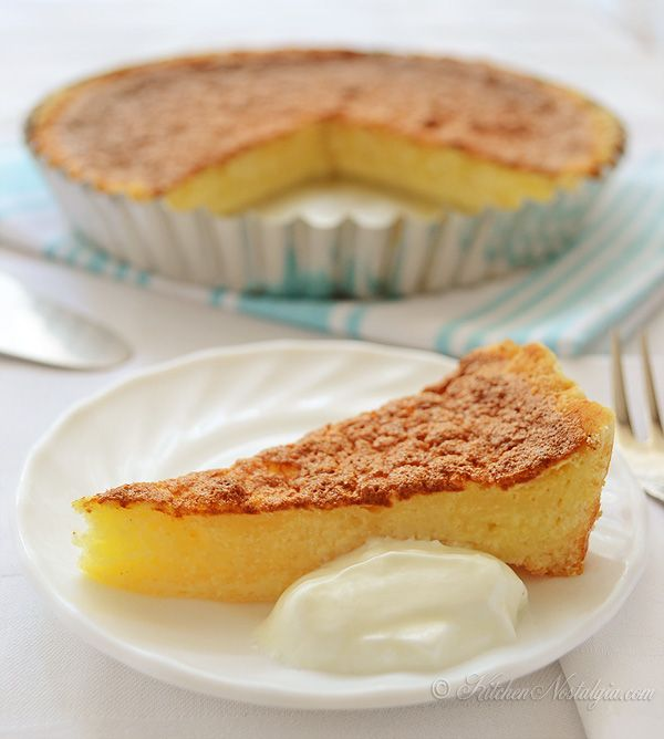 Filipino Egg Pie Recipe - classic custard dessert with eggs, sugar, vanilla and evaporated milk - kitchennostalgia.com