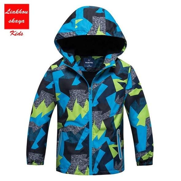 7e37c6371 Boys Casual Windbreaker Outerwear Sporty Hoodie Clothes Double-Deck  Waterproof