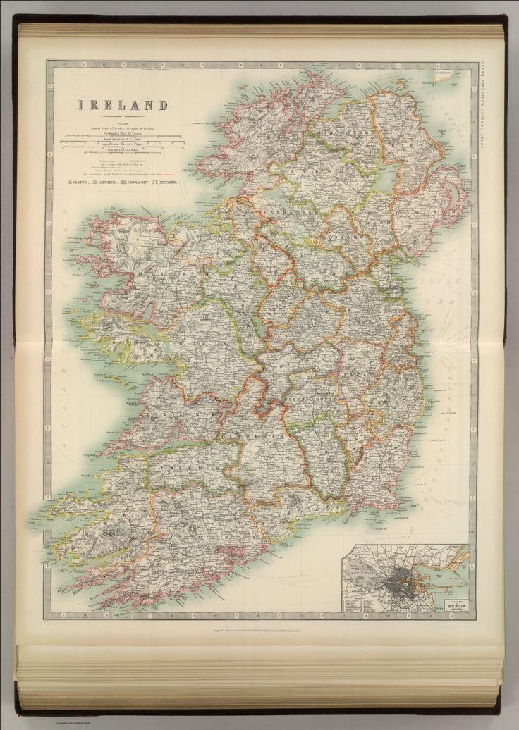 1911 Map of Ireland David Rumsey
