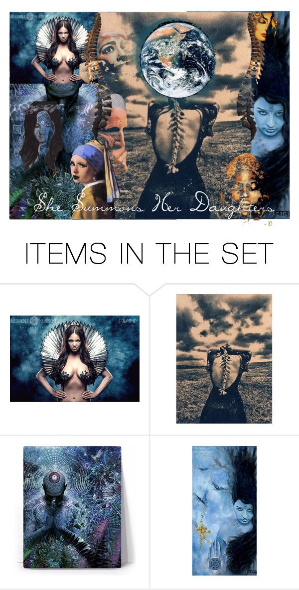 """""""She Summons Her Daughters"""" by chilirose-creative ❤ liked on Polyvore featuring art and artflashmob28"""