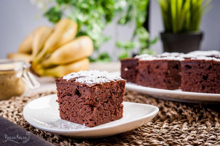 Bananowo-jaglankowe brownie