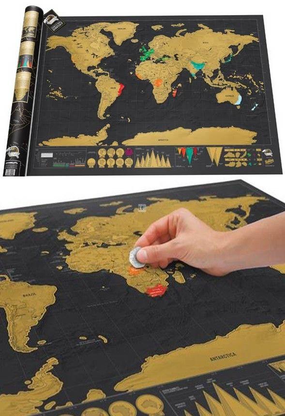 Luckies - Scratch Map - La carte du Monde à gratter - Édition deluxe