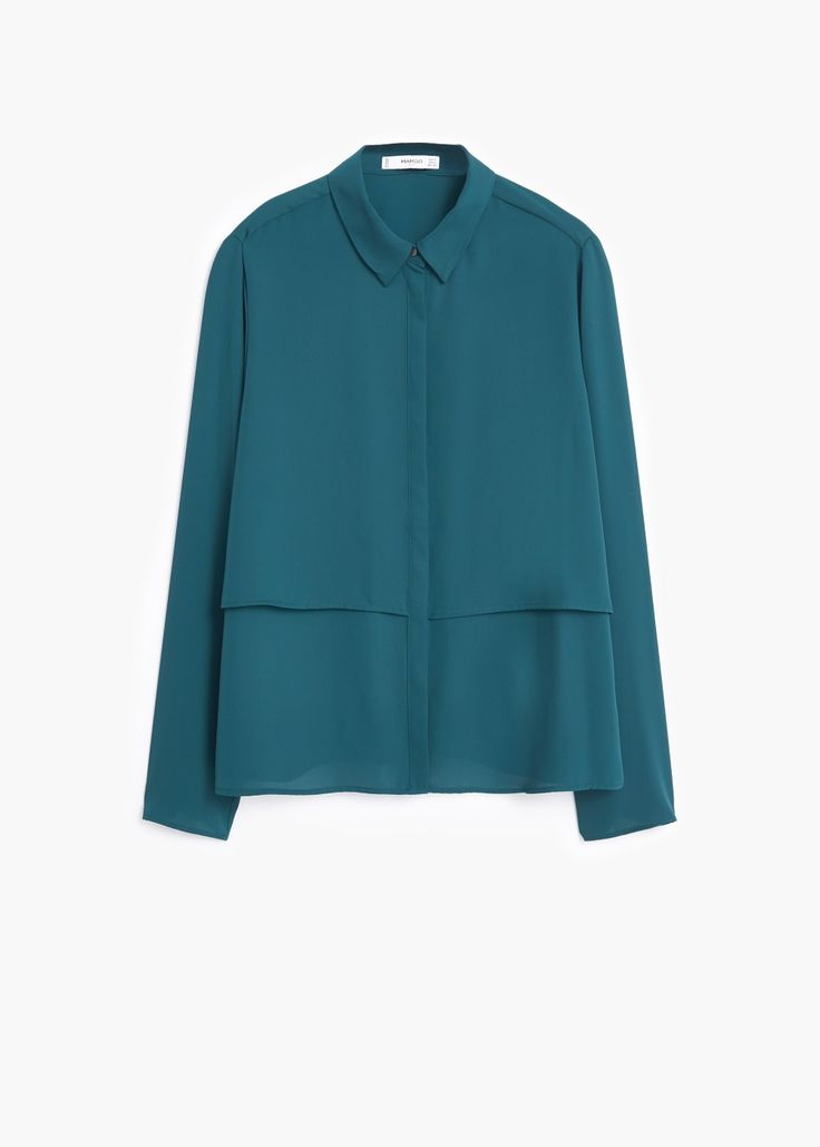 Blusa doble capa - Camisas de Mujer | MANGO