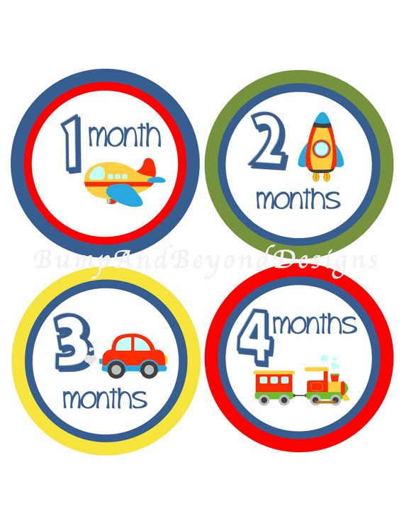 Baby Month Stickers INSTANT DOWNLOAD by BumpAndBeyondDesigns, $5.00
