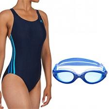 Bañador Adidas Rayas Azul + Gafa Imax Pro Azul Arena  http://navidad.decathlon.es/deporte/natacion/18