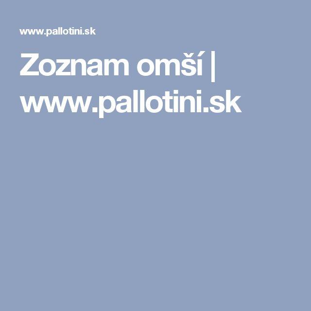 Zoznam omší | www.pallotini.sk