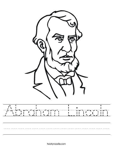 Abraham Lincoln Worksheet Twisty Noodle Home School