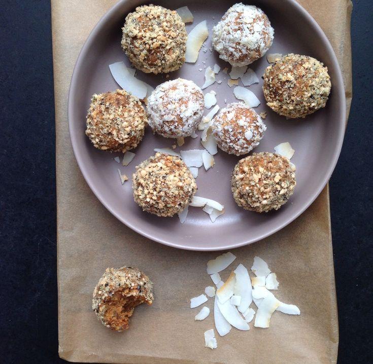 Gulerodskage kugler - små sunde kage bidder - Vanlose Blues