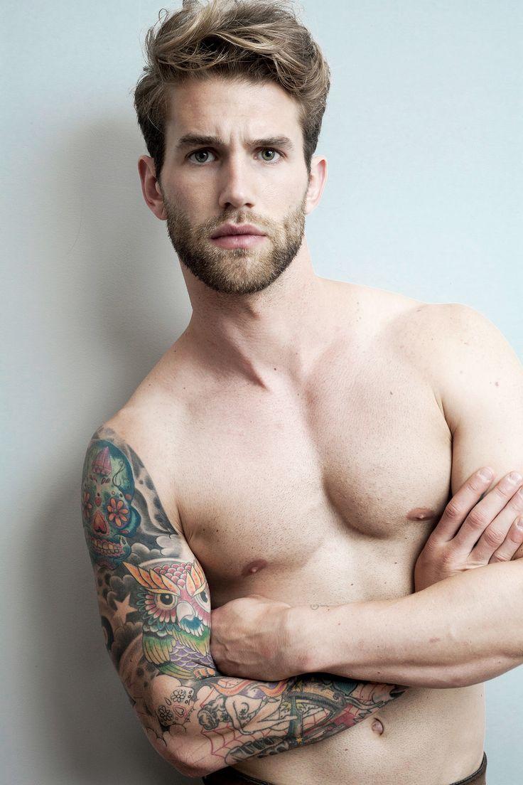 Male models tattoos arm
