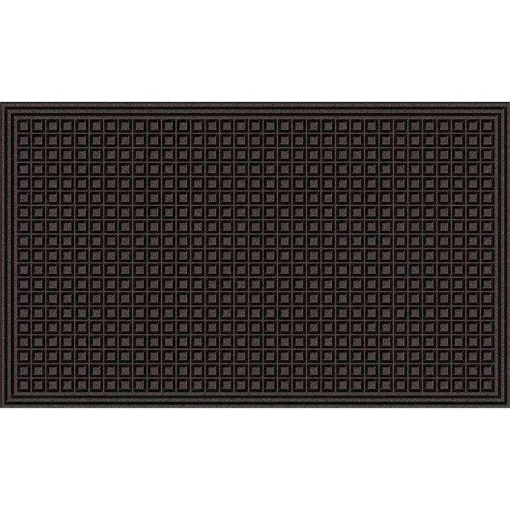 Textured Blocks Onyx Door Mat (2' x 3'), Black, Size 2' x 3' (Nylon) #60-885-1907