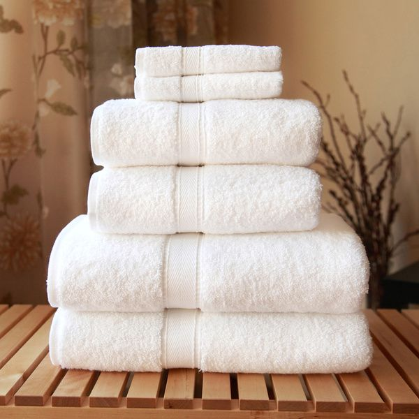 White Terry Towel Package:  3 Bath 3 Wash 2 Hand Above Presented to Guest. Extras Available if needed. Bath and 2 Wash will be racked together over Lav. Hand towel will be in hand towel ring. Universal for Housekeeping efficiency.