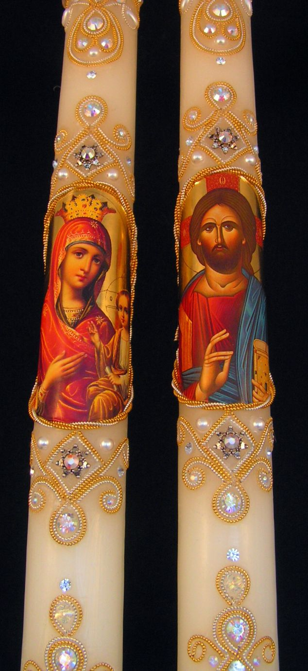 Greek Orthodox Wedding Candles Pic #16