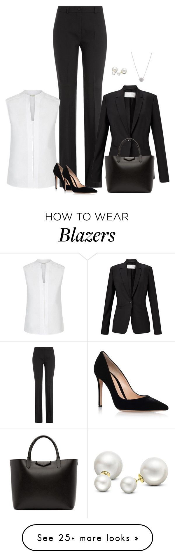 """""""Unbenannt #3875"""" by hitthisfeeling on Polyvore featuring Michael Kors, Hobbs, HUGO, Gianvito Rossi, Givenchy and Allurez"""
