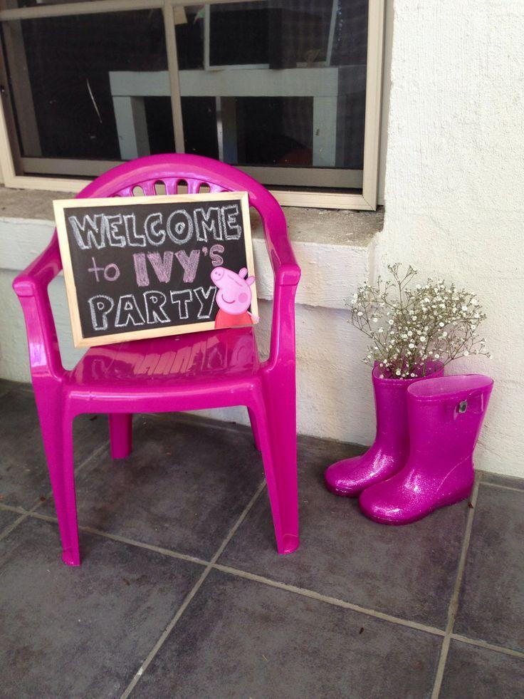 Mejores 7 imágenes de Ivy\'s Peppa Pig Party en Pinterest | Fiesta de ...