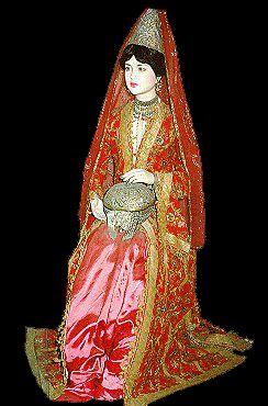 Ottoman Style of wedding dress