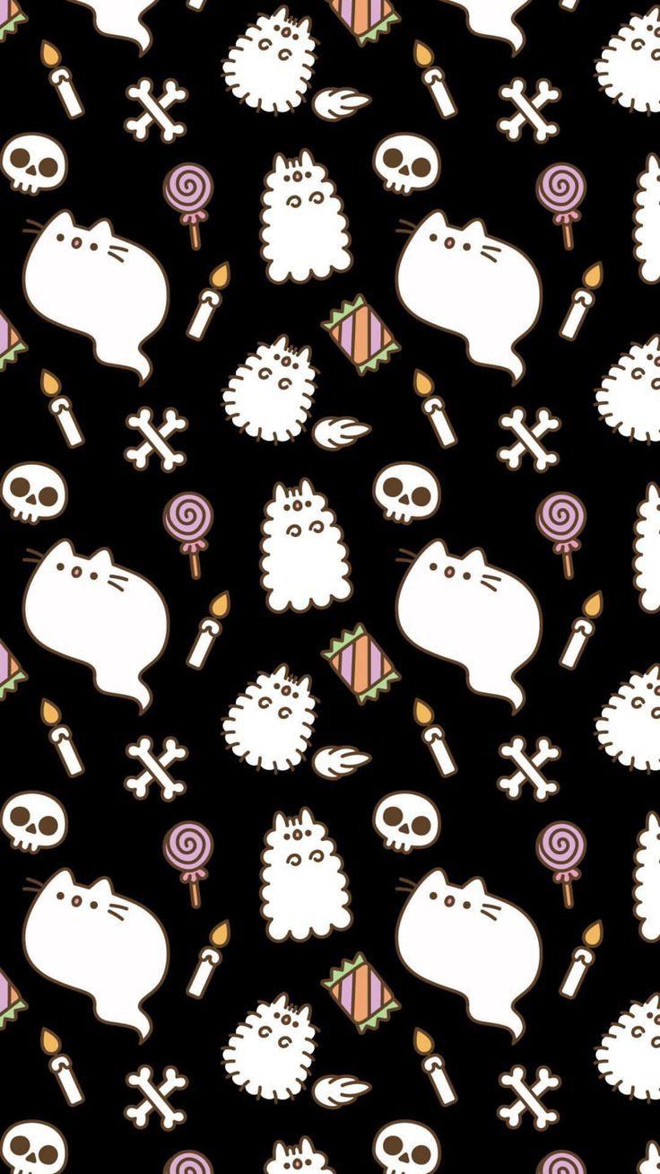 Iphone Wallpaper Pusheen The Cat Halloween October Autumn Wizard Witch Iphone X Wallpaper 214906213458074466 Cat Wallpaper Pusheen Cute Halloween Wallpaper